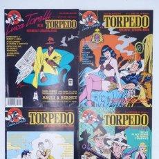 Cómics: LUCA TORELLI ES TORPEDO 1 A 4. COMPLETA. HISTORIETA Y LITERATURA NEGRA (VVAA) MAKOKI, 1991. OFRT. Lote 147053982