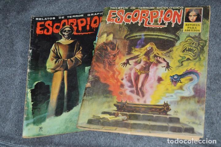 LOTE 2 TEBEO / COMIC - ESCORPION - Nº 14 Y 20 - REVISA PARA ADULTOS - AÑOS 70 - VINTAGE - HAZ OFERTA (Tebeos y Comics - Comics otras Editoriales Actuales)