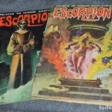 Cómics: LOTE 2 TEBEO / COMIC - ESCORPION - Nº 14 Y 20 - REVISA PARA ADULTOS - AÑOS 70 - VINTAGE - HAZ OFERTA. Lote 107524835