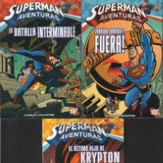 Cómics: SUPERMAN AVENTURAS EKL PLANETA DEAGOSTINI NºS 1, 2 Y 3 LA BATALLA INTERMINABLE, HIJO DE KRYTON. Lote 107826007