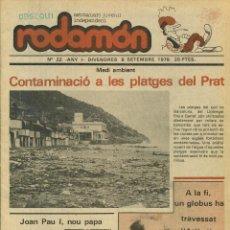 Comics : RODAMON SETMANARI JUVENIL INDEPENDENT Nº 22 - 1978. Lote 116883848