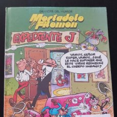 Cómics: MORTADELO Y FILEMON: EXPEDIENTE J Nº 3 - GRANDES DEL HUMOR - TAPA DURA (NUEVO) PRECINTADO. Lote 108395751