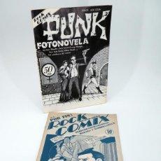 Cómics: ROCK COMIX 1 Y 2. - FOTONOVELA PUNK GASPAR FRAGA, 1976. OFRT. Lote 171688342