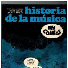 Cómics: HISTORIA DE LA MÚSICA EN CÓMICS.SEDMAY 1981 PARA LA CAJA DE AHORROS DE VALENCIA.PERFECTO.. Lote 109404603