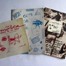 Cómics: CON LA MOSCA DETRAS DE LA OREJA FANZINE ORIGINAL CÁNTABRO NÚMEROS 1, 2 Y ESPECIAL VERANO (5). Lote 109819871