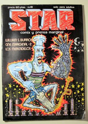 STAR. REVISTA DE COMIX Y PRENSA MARGINAL. Nº 18 - BARCELONA 1976 - MUY ILUSTRADO (Tebeos y Comics - Comics otras Editoriales Actuales)