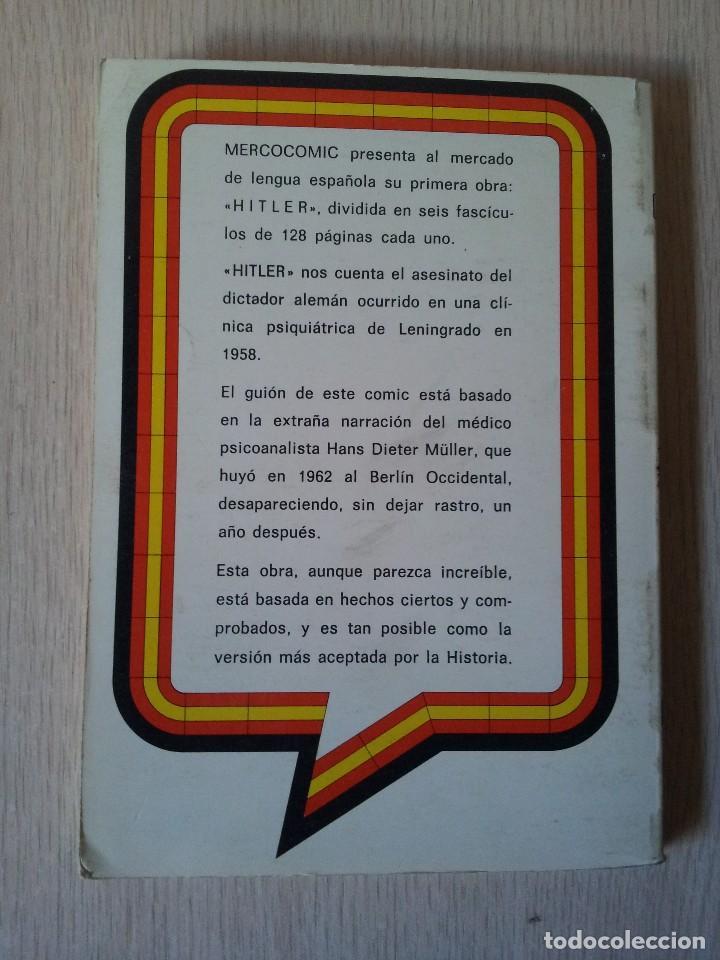 Cómics: HITLER Nº 1, LOS ULTIMOS DIAS - PUBLICACION PARA ADULTOS - MERCOCOMIC 1977 - Foto 2 - 110575335