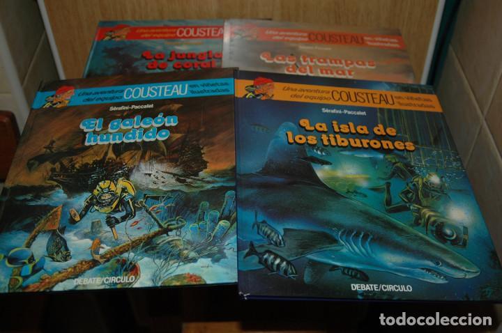 LOTE DE 4 COMICS LAS AVENTURAS DE COUSTEAU EN VIÑETAS ILUSTRADAS (Tebeos y Comics Pendientes de Clasificar)