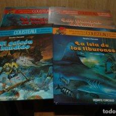 Cómics: LOTE DE 4 COMICS LAS AVENTURAS DE COUSTEAU EN VIÑETAS ILUSTRADAS . Lote 110834095