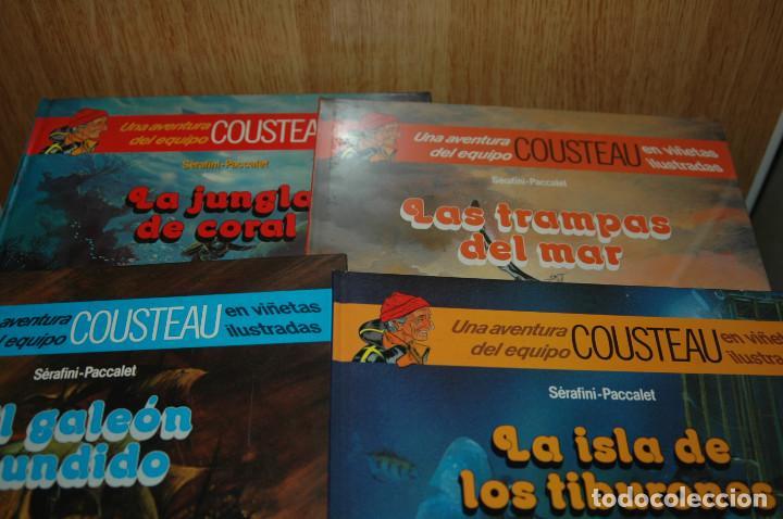 Cómics: LOTE DE 4 COMICS LAS AVENTURAS DE COUSTEAU EN VIÑETAS ILUSTRADAS - Foto 2 - 110834095