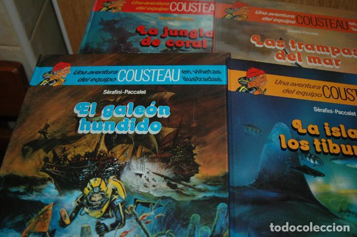 Cómics: LOTE DE 4 COMICS LAS AVENTURAS DE COUSTEAU EN VIÑETAS ILUSTRADAS - Foto 3 - 110834095