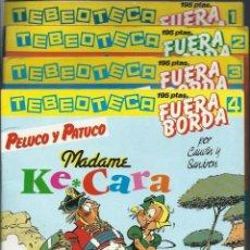 Cómics: LOTE 4 TEBEOS COLECCION TEBEOTECA Nº 1 A 4 - SARPE 1984 - AMBROSIUS, J. GOODBYE, KROSTONES Y PELUCO. Lote 110947663