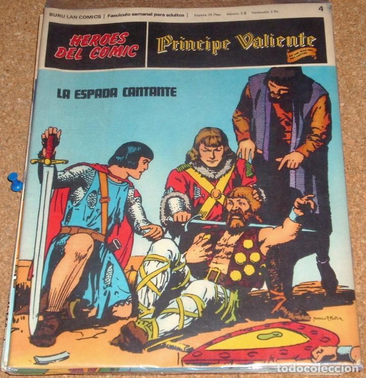 PRINCIPE VALIENTE Nº 4, BURU LAN 1971 - PERFECTO- LEER DESCR. (Tebeos y Comics - Buru-Lan - Principe Valiente)
