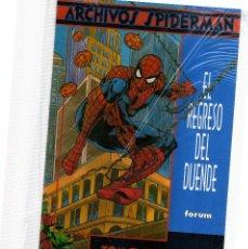 Cómics: SPIDERMAN ARCHIVOS EL REGRESO DEL DUENDE. Lote 111874899