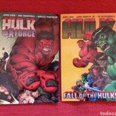 Cómics: CÓMICS HULK FALL OF THE HULKS- HULK X - FORCE VOL 4 Y 5. Lote 112259758