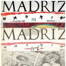 Cómics: MADRIZ -COLECCIÓN COMPLETA DE 33 NÚMEROS + 3 EXTRAS- AYTO.DE MADRID 1984.PERFECTOS. LEER. Lote 185898806