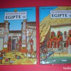 Cómics: ELS VIATGES D'ALIX EGIPTE NÚMS 1 I 2 JACQUES MARTIN GLÉNAT . ABSOLUTAMENT NOUS I MAI LLEGITS. Lote 113398951