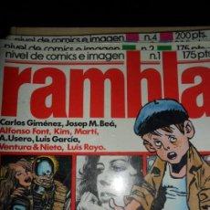 Cómics: RAMBLA, NIVEL DE CÓMICS E IMAGEN, LOTE DE 10 REVISTAS, 1-7, 11, 15, 25. Lote 113665343