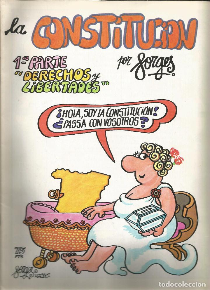 LA CONSTITUCIÓN DERECHOS Y LIBERTADES Nº 1 FORGES (Tebeos y Comics - Comics otras Editoriales Actuales)
