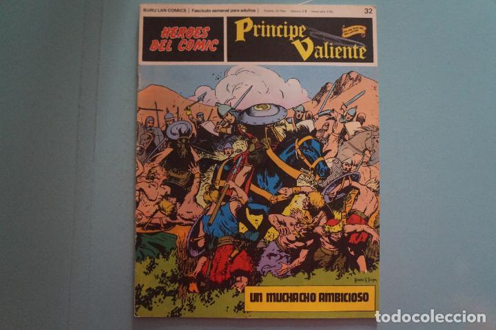 CÓMIC DE PRÍNCIPE VALIENTE UN MUCHACHO AMBICIOSO AÑO 1972 Nº 32 DE BURU LAN COMICS LOTE 27 E (Tebeos y Comics - Buru-Lan - Principe Valiente)