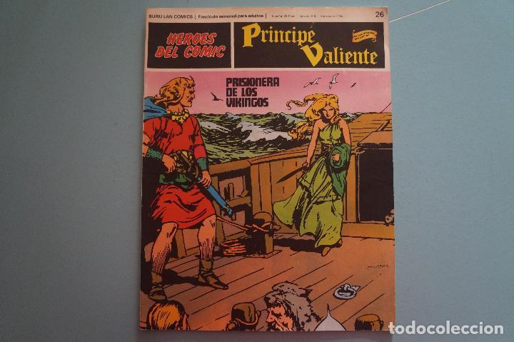 CÓMIC DE PRÍNCIPE VALIENTE PRISIONERA DE LOS VIKINGOS AÑO 1972 Nº 26 DE BURU LAN COMICS LOTE 27 E (Tebeos y Comics - Buru-Lan - Principe Valiente)