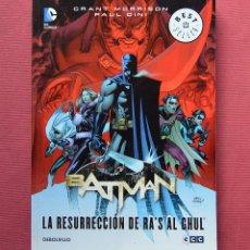 Cómics: BATMAN - LA RESURRECCION DE RA'S AL GHUL - GRANT MORRISON - PAUL DINI - DEBOLSILLO 2014. Lote 115287399