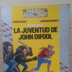Cómics: LA JUVENTUD DE JOHN DIFOOL (ANTES DEL INCAL I), POR JANJETOV Y JODOROWSKY. EUROCOMIC, 1990.. Lote 117351976