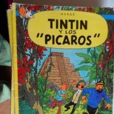 Cómics: LAS AVENTURAS DE TINTIN HERGE TINTIN Y LOS PICAROS 2ª EDICION 1980. Lote 117775139