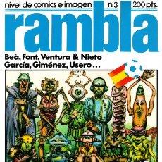 Cómics: RAMBLA - Nº 3 -NIVEL DE CÓMICS E IMAGEN-GIMÉNEZ.USERO-LUIS GARCÍA-BEÁ-1982-BUENO-DIFÍCIL-LEAN-3116. Lote 194616480