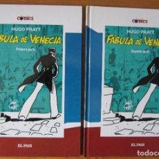 Cómics: HUGO PRATT - CORTOS MALTES - FABULA DE VENECIA - DOS TOMOS - EL PAIS. Lote 268829514