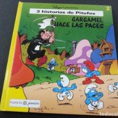 Comics: PEYO PRESENTA 3 HISTORIAS DE PITUFOS. Nº 2. GARGAMEL HACE LAS PACES. PLANETA JUNIOR. Lote 119211651