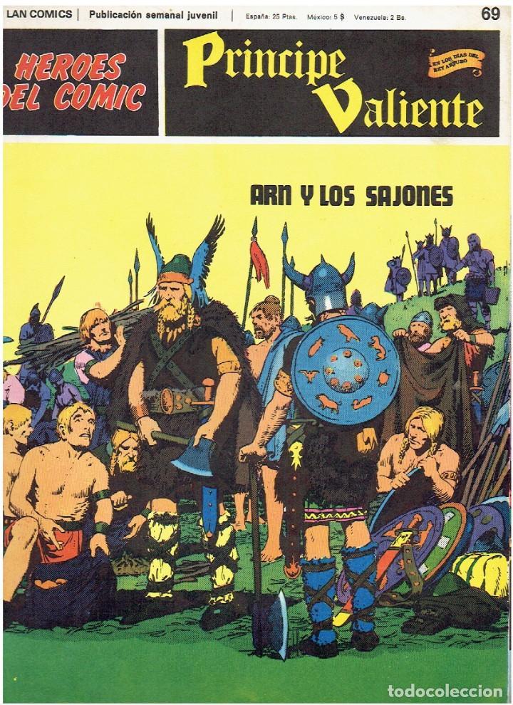 Cómics: PRINCIPE VALIENTE-HÉROES DEL CÓMIC-BURU LAN 1973 FASCÍCULOS SUELTOS 68, 69, 70 Y 74 - Foto 2 - 119291667