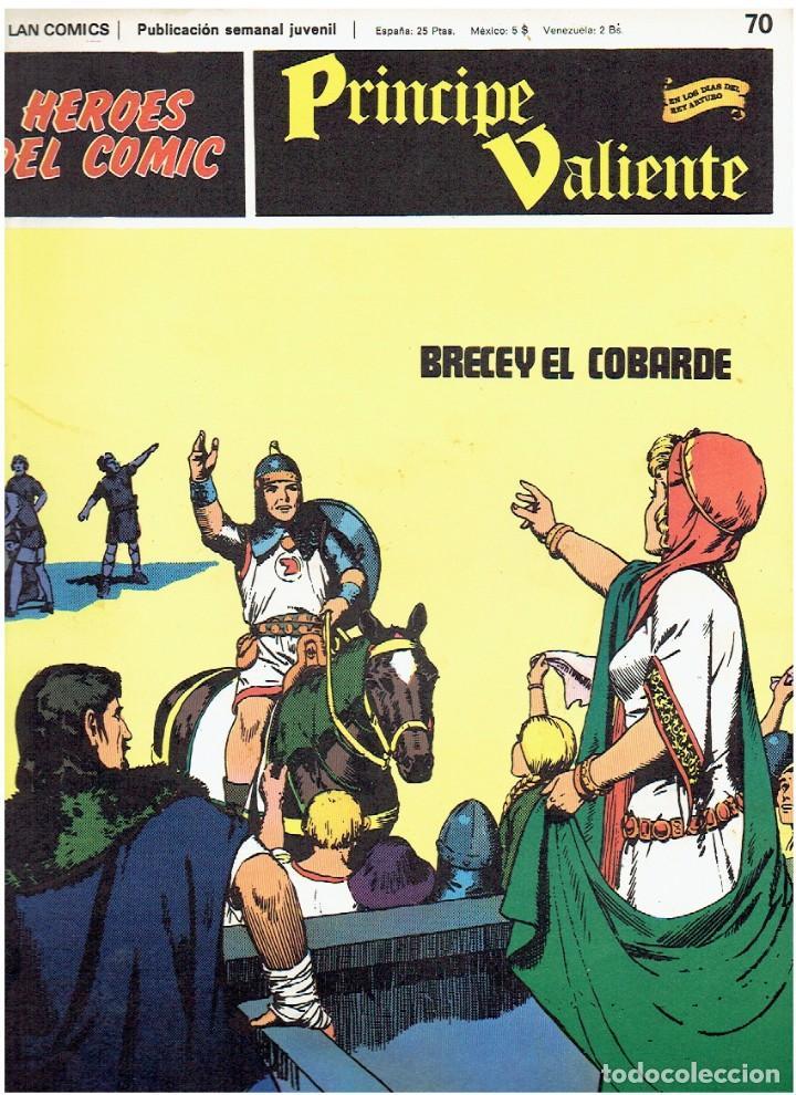 Cómics: PRINCIPE VALIENTE-HÉROES DEL CÓMIC-BURU LAN 1973 FASCÍCULOS SUELTOS 68, 69, 70 Y 74 - Foto 3 - 119291667