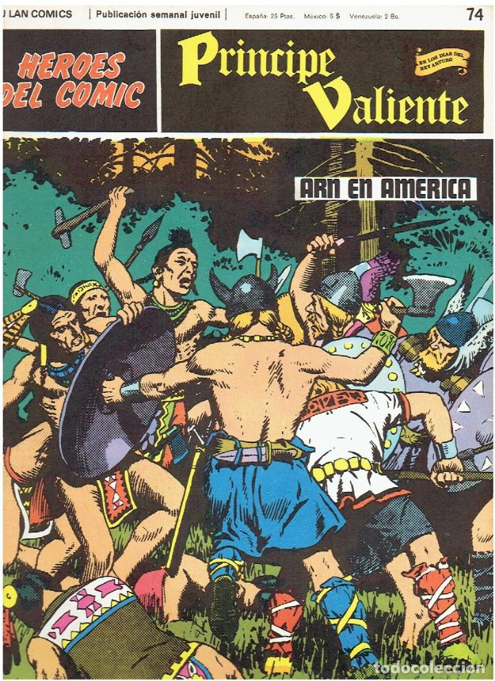 Cómics: PRINCIPE VALIENTE-HÉROES DEL CÓMIC-BURU LAN 1973 FASCÍCULOS SUELTOS 68, 69, 70 Y 74 - Foto 4 - 119291667