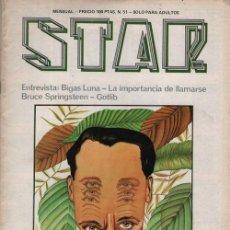 Cómics: REVISTA STAR COMIX Y PRENSA MARGINAL - Nº 51. Lote 119712067