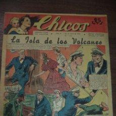 Cómics: CHICOS. LA ISLA DE LOS VOLCANES. AÑO IV. N º 164. 1941. SAN SEBASTIAN. TALLERES OFFSET.. Lote 119854651