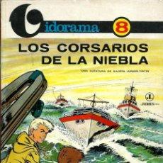 Cómics: LOS CORSARIOS DE LA NIEBLA - COLECCION VIDORAMA Nº 8 - GACETA JUNIOR TINTIN - JAIMES 1969 - MUY BIEN. Lote 187521076