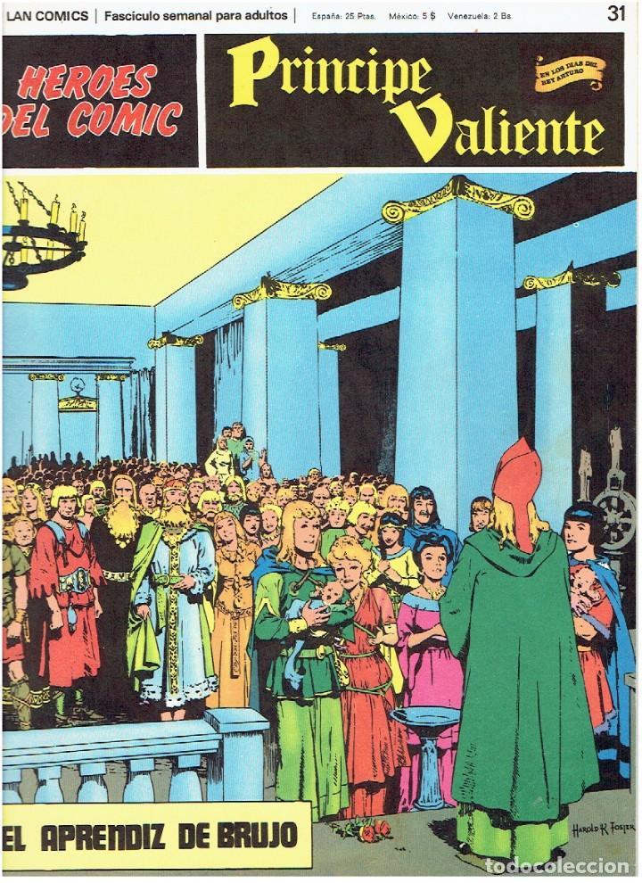 FASCÍCULOS SUELTOS DE LA COLECCIÓN, DEL 31 AL 36 (Tebeos y Comics - Buru-Lan - Principe Valiente)