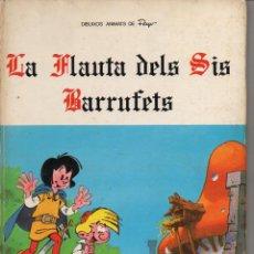 Cómics: LA FLAUTA DELS SIS BARRUFETS (DIÀFORA 1981) PITUFOS EN CATALÁN. Lote 120554471