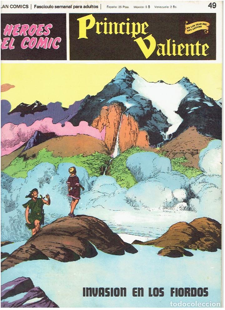 FASCÍCULOS SUELTOS DE LA COLECCIÓN, DEL 49 AL 54 (Tebeos y Comics - Buru-Lan - Principe Valiente)