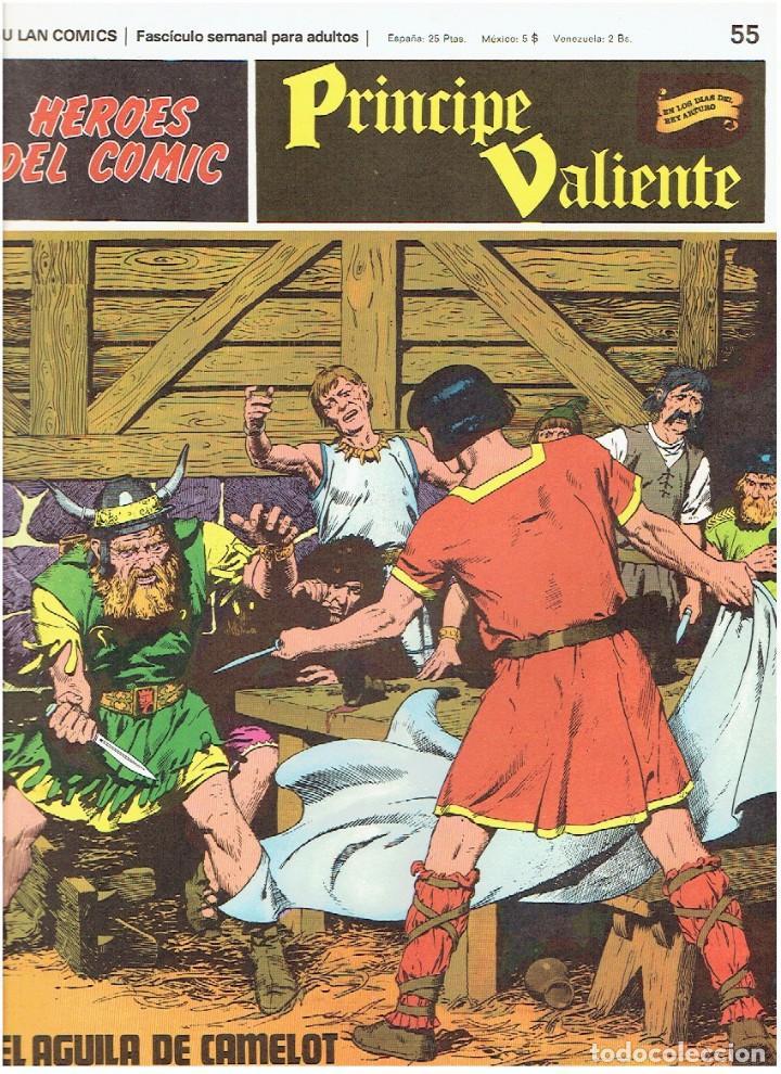 FASCÍCULOS SUELTOS DE LA COLECCIÓN, DEL 55 AL 60 (Tebeos y Comics - Buru-Lan - Principe Valiente)