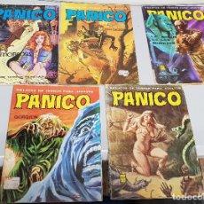 Cómics: PÁNICO, RELATOS DE TERROR ¡ LOTE 5 NÚMEROS ! VILMAR 1978. Lote 121719811