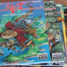 Cómics: MOT 1 2 3 5 – AZPIRI / NACHO - ED. EL PAÍS AÑO 1989 – 4 ÁLBUMES EN CARTONÉ. Lote 121731539