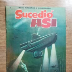 Cómics: SUCEDIO ASI (SERIE HAZAÑAS Y AVENTURAS #3) (EDICIONES EVA). Lote 121908959