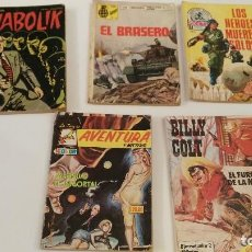 Cómics: LOTE 5 COMICS ANTIGUOS TAMAÑO NOVELA. Lote 122491067