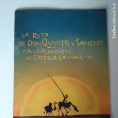 Cómics: LA RUTA DE DON QUIJOTE Y SANCHO POR LOS ALIMENTOS DE CASTILLA-LA MANCHA. Lote 123034951