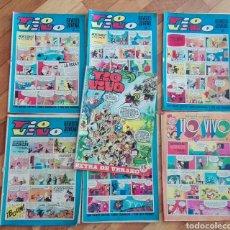 Cómics: LOTE 6 REVISTA JUVENIL TIO VIVO + 1 EXTRA DE VERANO CÓMICS. Lote 125891572