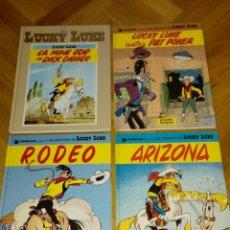 Cómics: LUCKY LUKE EN CATALÁN Y FRANCÉS, RODEO ARIZONA PAT POKER MINA ORO DICK DIGGER. Lote 126505863