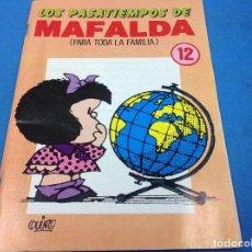 Comics : LOS PASATIEMPOS DE MAFALDA 12. Lote 126673459