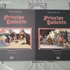 Cómics: PRINCIPE VALIENTE TOMOS 1 Y 2 MANUEL CALDAS LIBROS DE PAPEL. Lote 126804399